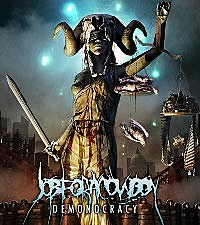 job-for-a-cowboy-demonocracy-2012 Job For A Cowboy Demonocracy on vocalist tattoo, jon davy, members drummer, cd cover, death metal, album cover art, goat skull, john davy, death metal bands, imperium wolves shirt,