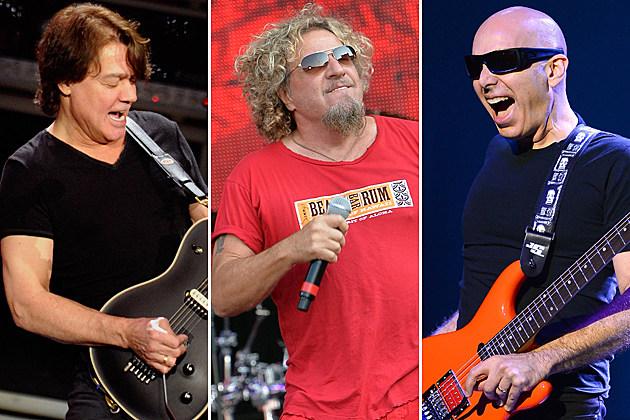 Eddie Van Halen Sammy Hagar Joe Satriani