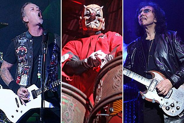 Metallica Slipknot Black Sabbath